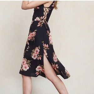 Camille Dress in Navy Blue and Floral